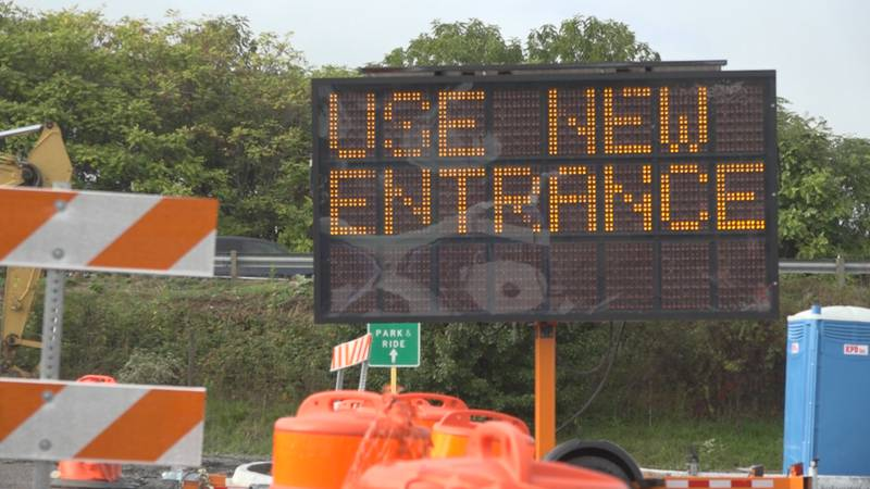 New entrance to Waynesboro Town Center Park & Ride