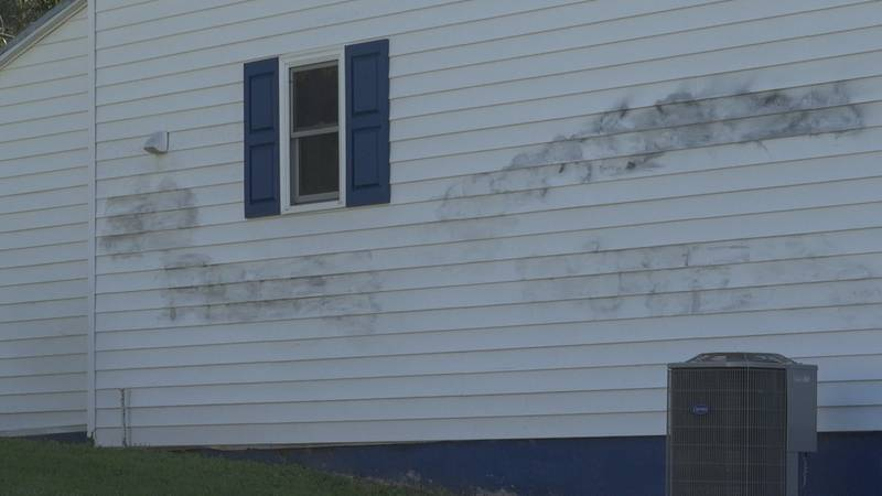 The spray paint was removed after help from neighbors and family members.