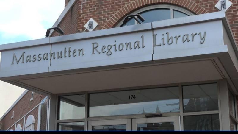 Entrance to Massanutten Regional Library.