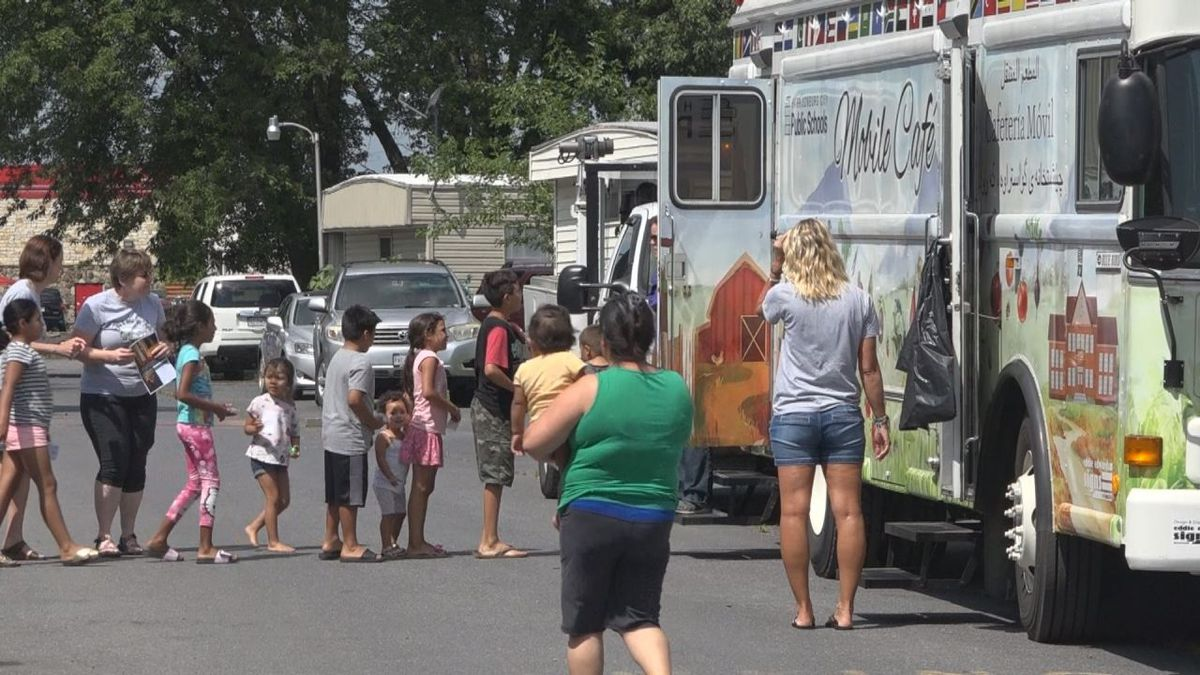 The mobile cafe is feeding around 250 kids each day throughout the summer of 2019. Photo: WHSV