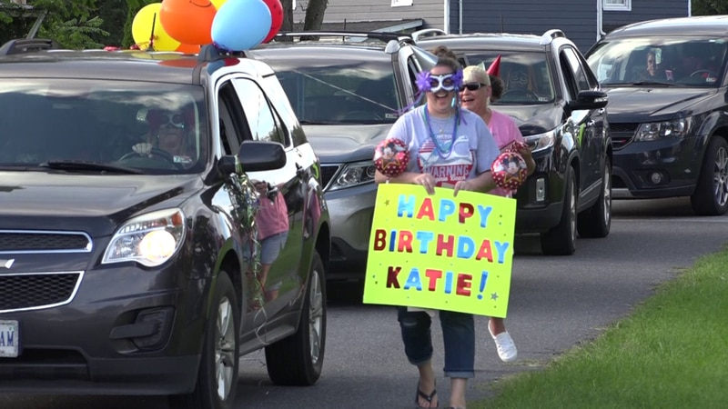 The Elkton community created signs and decorations to celebrate someone's birthday who has been...