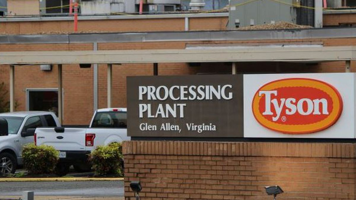 The Tyson processing plant in Glen Allen is one of 122 meat processing facilities in Virginia. (Source: Sarah Vogelsong/Virginia Mercury)