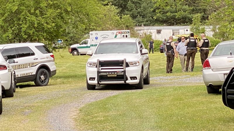 A heavy police presence has been reported in Grottoes, Va.