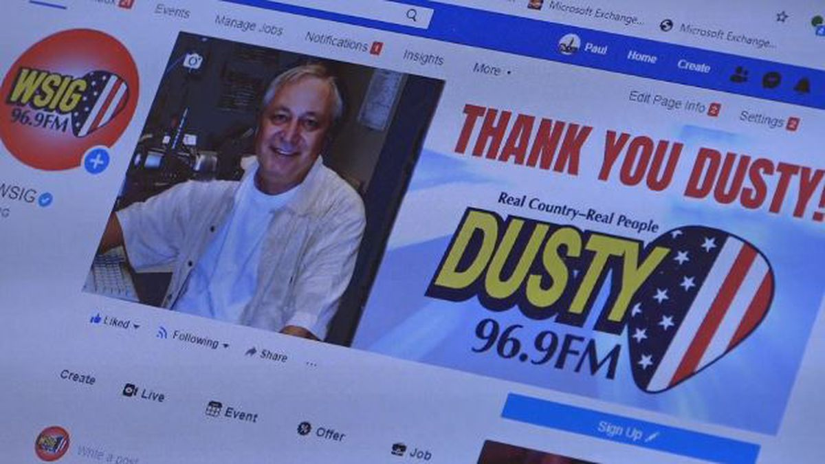 WSIG rebranded their station for the day including their Facebook page to honor Dusty Rhodes.