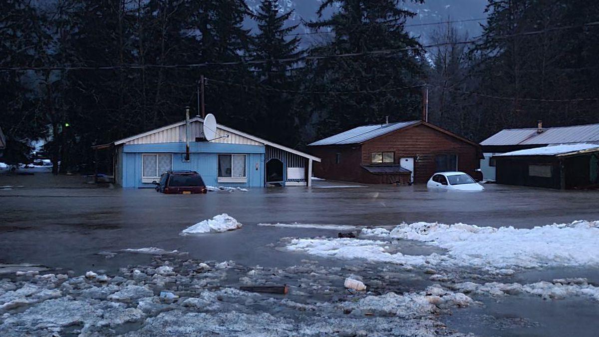 Heavy rain leads to mudslides and rare flash flood warning for Alaska