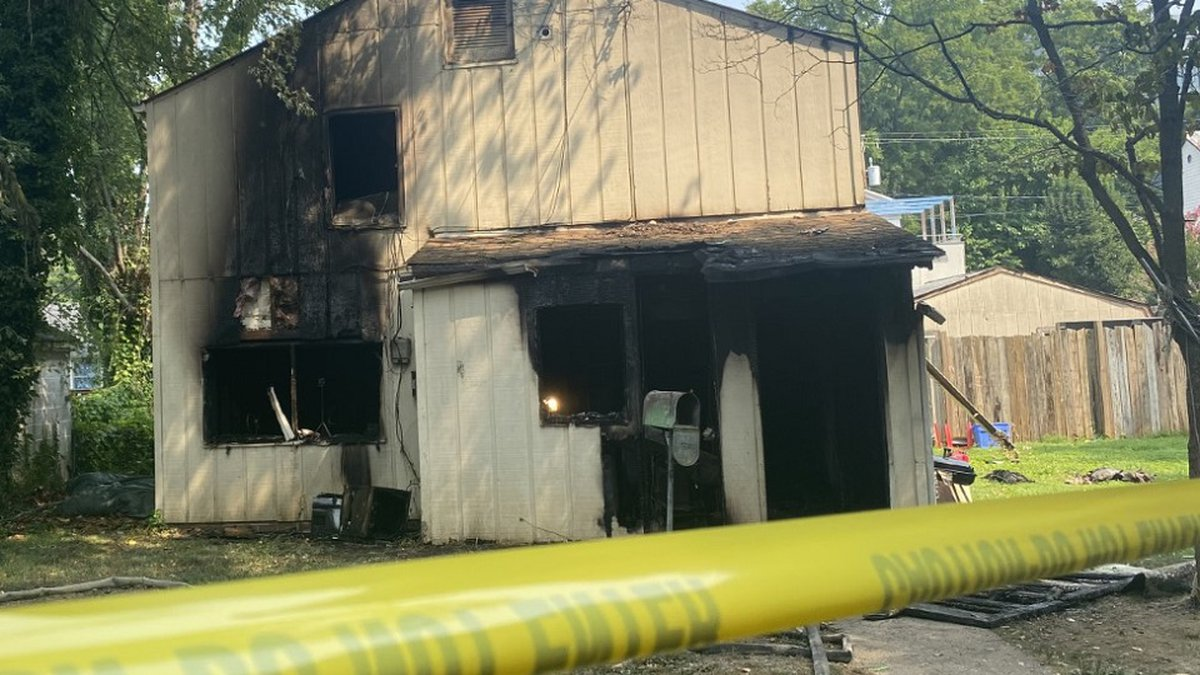Scene of a fatal house fire along Cherry Avenue in Charlottesville.