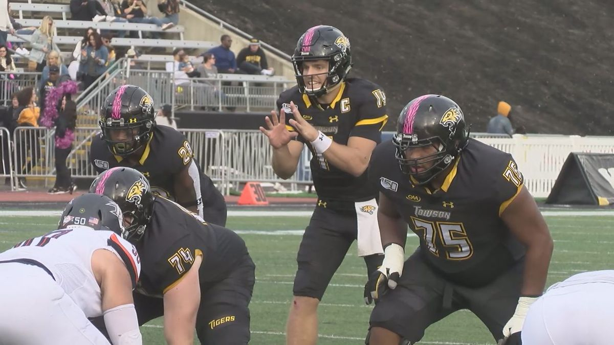 Led by quarterback Tom Flacco, the Towson football team pays a visit to James Madison Saturday afternoon.
