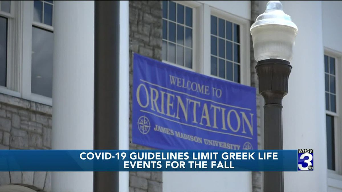 JMU Greek organizations must adhere to COVID-19 guidelines for events, recruitment