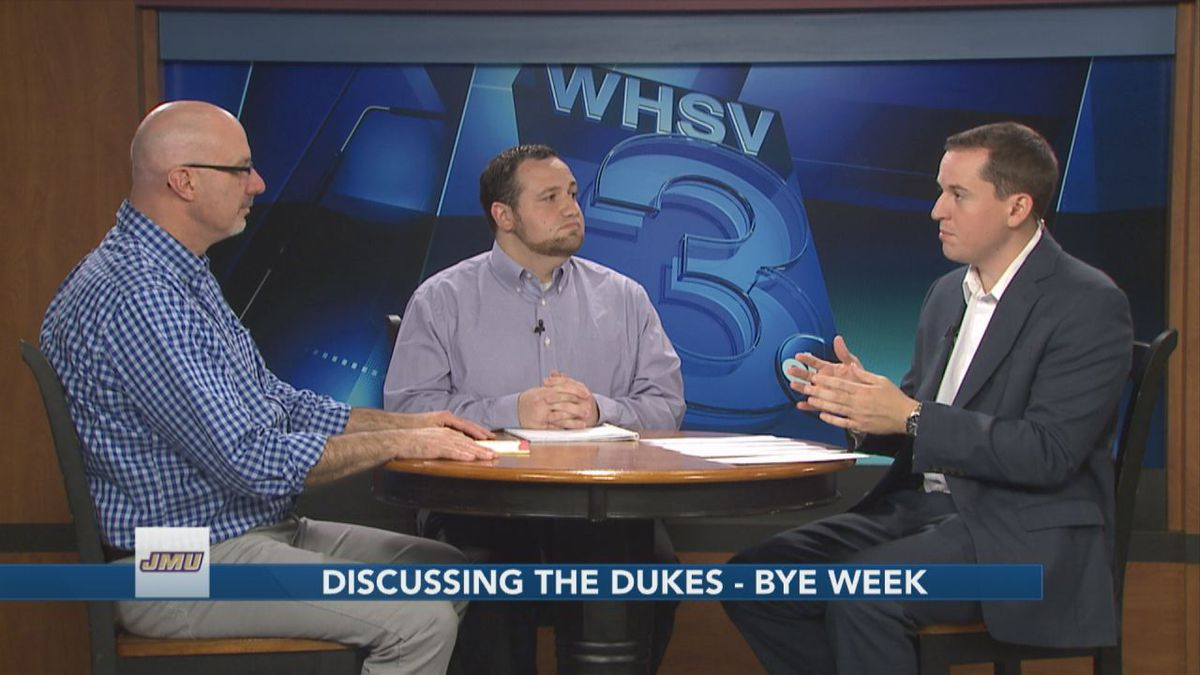 WHSV Sports Director TJ Eck is joined by Greg Madia and Dave Thomas to discuss the James Madison football team heading into the Dukes' bye week.
