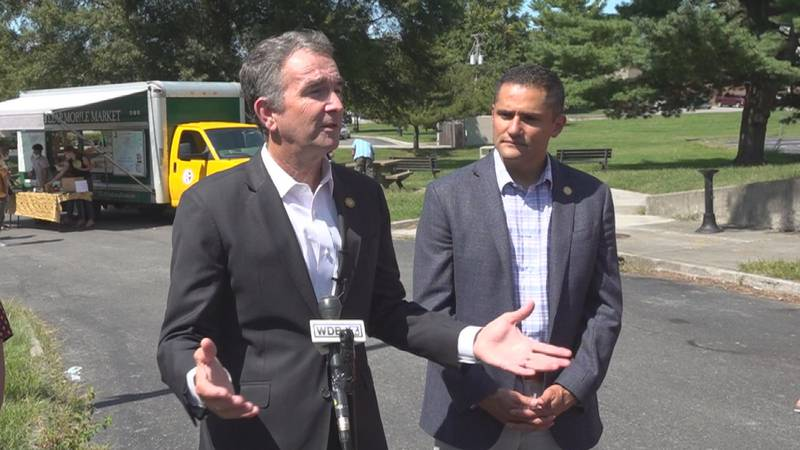 Gov. Ralph Northam said he supports President Biden's vaccine mandate for employees of large...