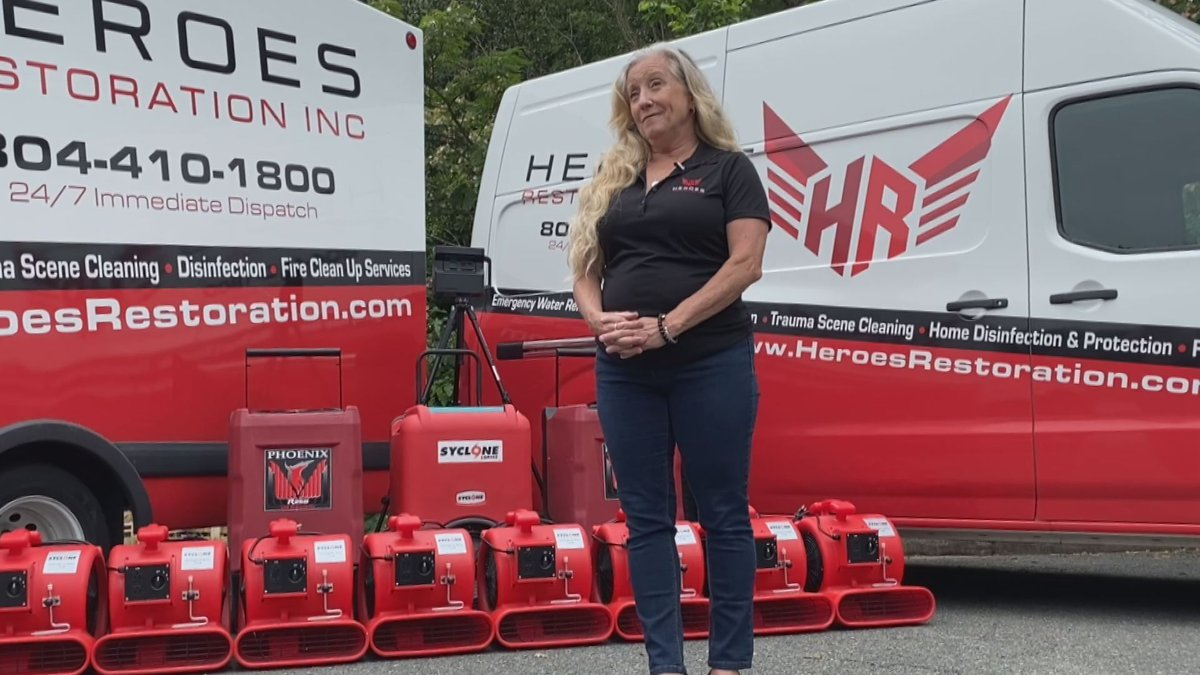 Shari Burgess with Heroes Restoration Inc. in Richmond says the cleanup company has been...