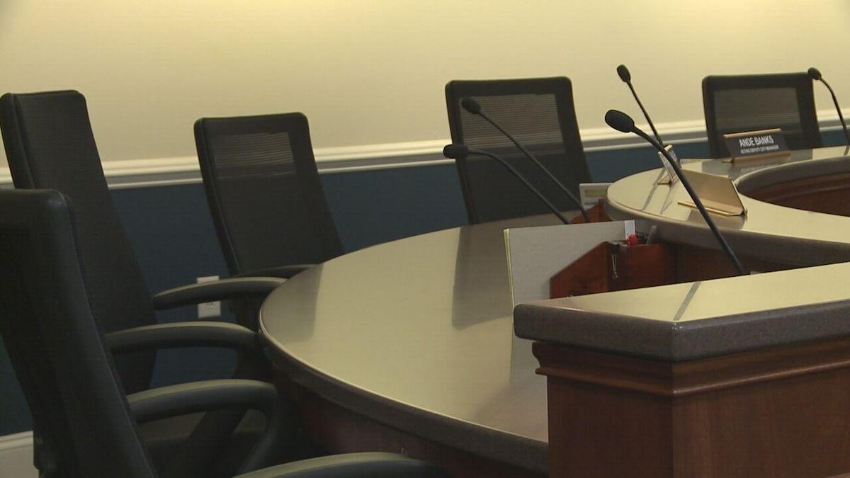 Harrisonburg City Council chambers.