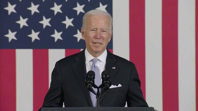 President Joe Biden said that it's important to take care of seniors in remarks in Scranton,...