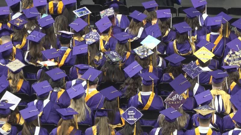 James Madison University's 2020 commencement ceremony.