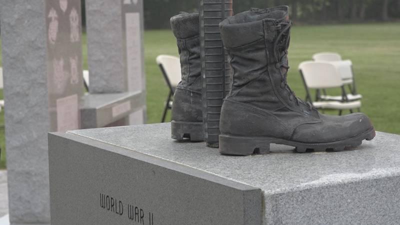 Veterans' Memorial dedication held at American Legion Park in Timberville