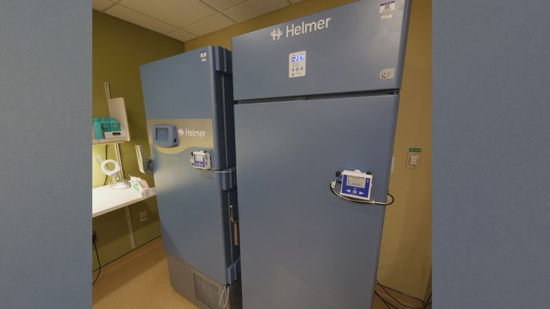 Special freezer staff at Valley Health will use at the hospital in Winchester to store Vaccines...