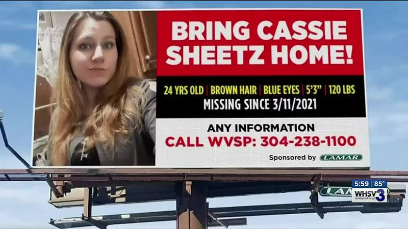 A billboard is up and the family of missing hiker Cassie Sheetz is still looking for answers