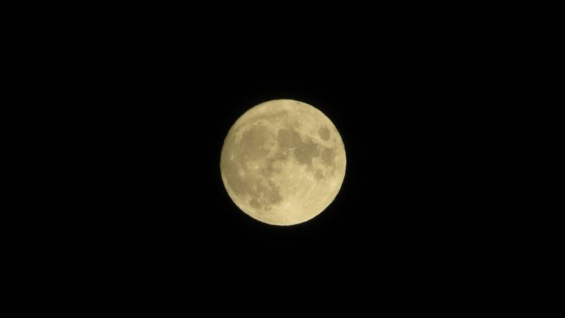 Full Moon from Staunton Saturday night