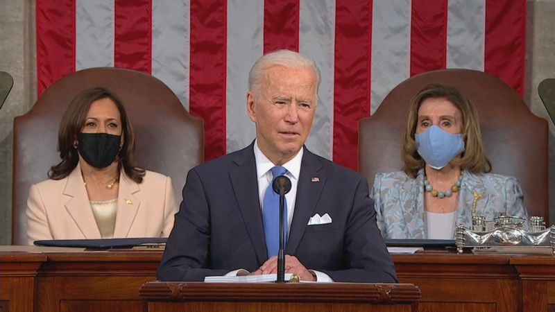 Biden's 100th day address