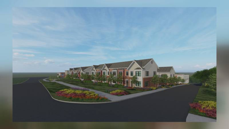 Rendering from developers of the new town homes that were to be built facing Boyers road.