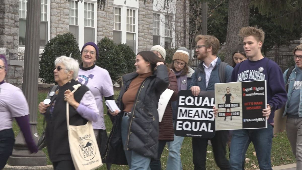 Students and community members walk to show their support for the ERA. | Credit: WHSV