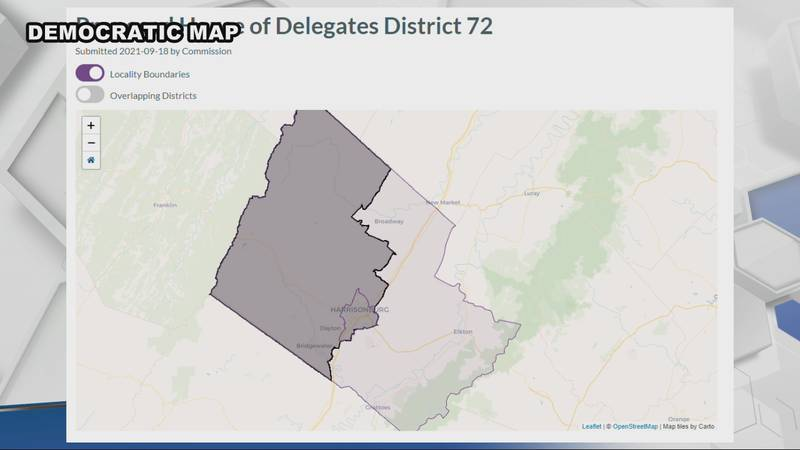 One of two potential maps show how the current 26th district becomes split up.