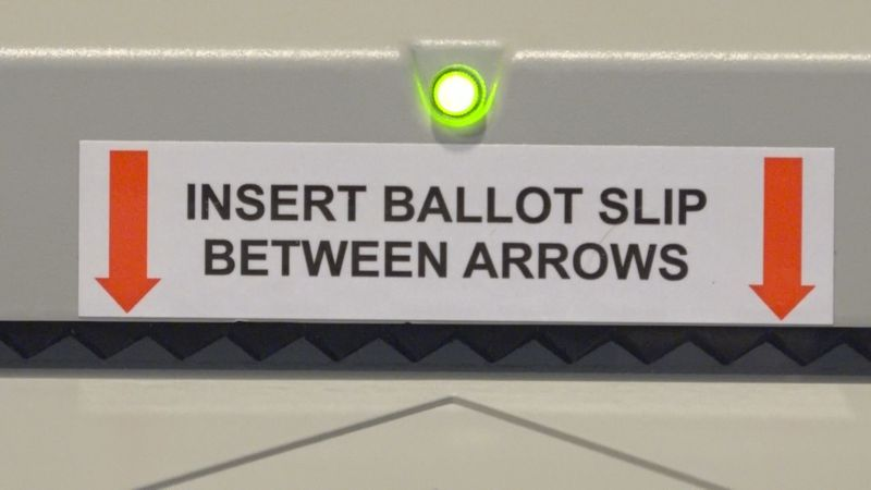 All mail-in ballots are stored by the Clerk of Court for two years.