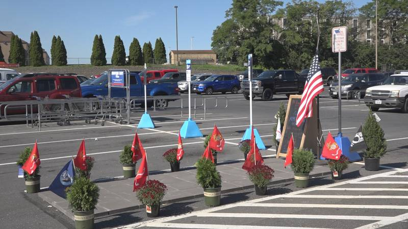 The store on Linda Lane has converted one of its veteran parking spots into a memorial for the...