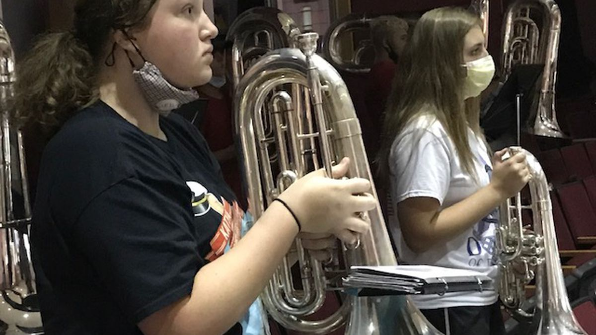 Marching bands will be able to perform this fall at high school games in West Virginia, under...