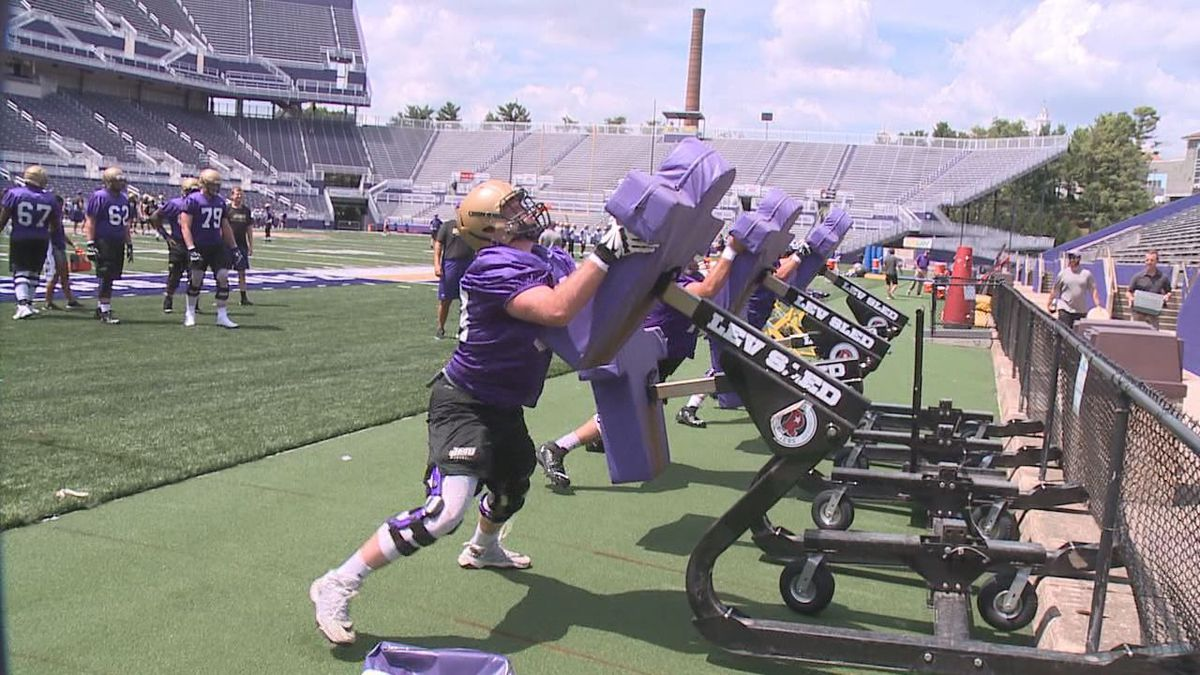 The James Madison football team is holding off on starting preseason practice.