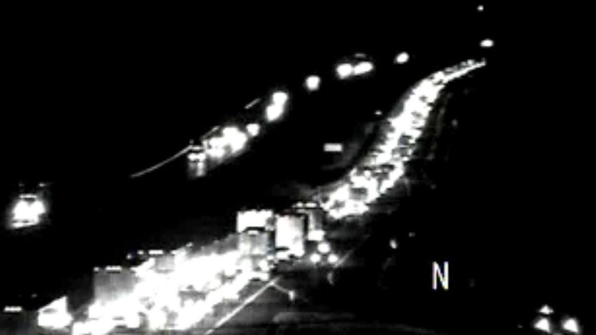View from VDOT traffic camera at MM 2823 of Interstate 81 as of 6:00 p.m. on Nov. 22