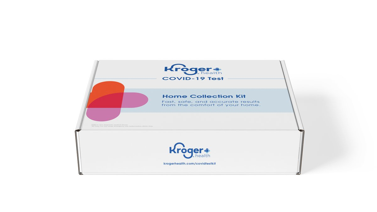 A Kroger COVID-19 Test Home Collection Kit.