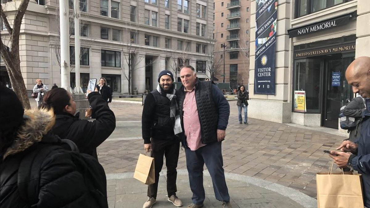 WASHINGTON - On Wednesday, furloughed federal workers lined up to thank, and take a photo with,...