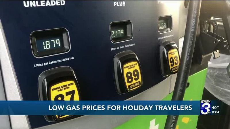 Gas prices push cheaper for travelers ahead of Thanksgiving