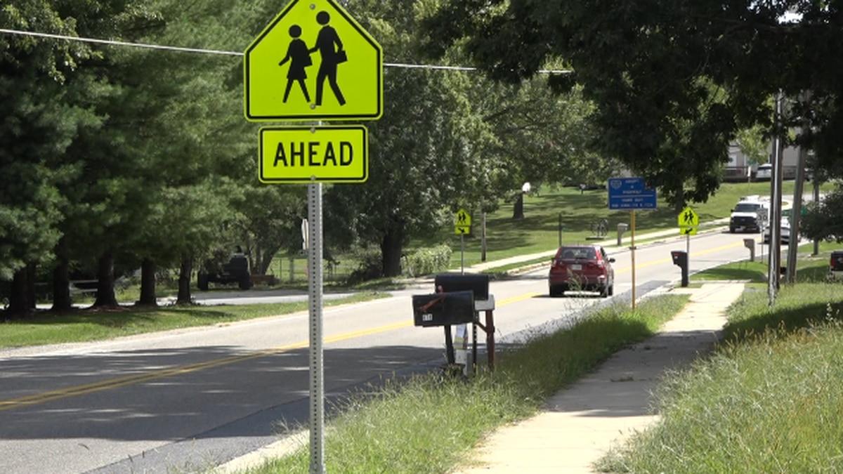 Part of the Scholastic Way sidewalk heading toward Stuarts Draft schools. | Credit: WHSV