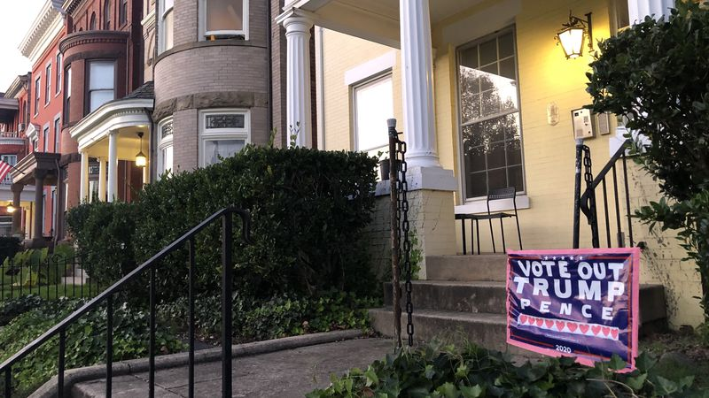 A political sign outside a home in Richmond's fan district. Photo by Ada Romano.