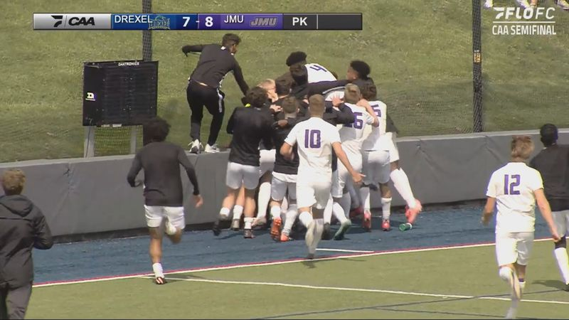 The James Madison men's soccer team defeated Drexel Thursday afternoon in the semifinals of the...