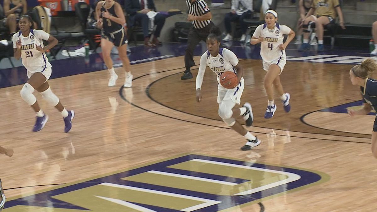 The James Madison women's basketball team defeated Mount St. Mary's, 69-55, in the season...