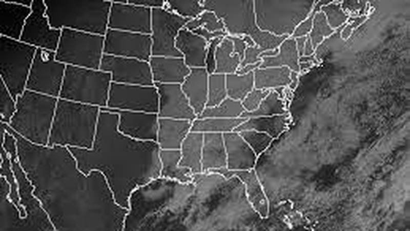GOES Visible Satellite image of US