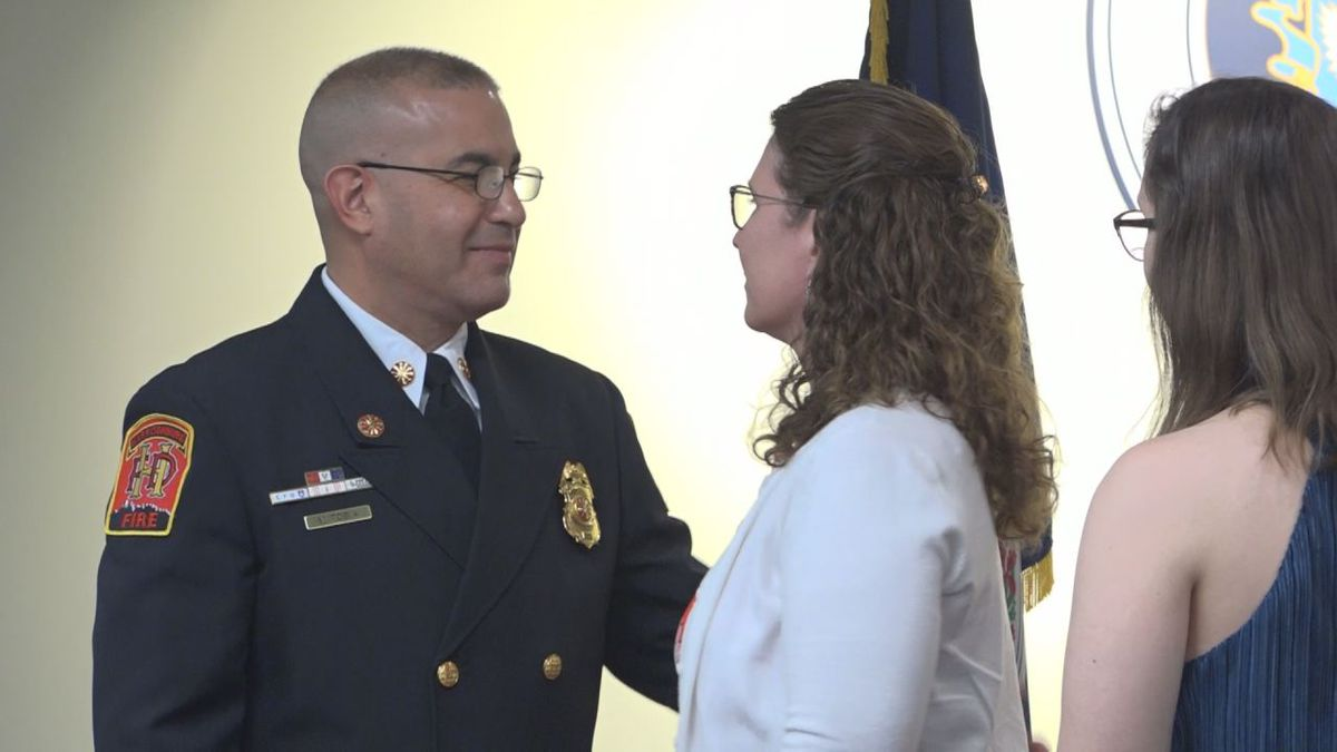 Chief Tobia thanks his wife for supporting him through all of his roles and helping to get him where he's at now.