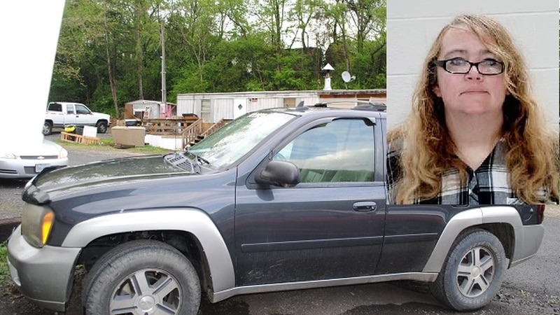 Nancy Fridley, suspect in kidnapping of Noah Trout, and the SUV she was driving, according to...