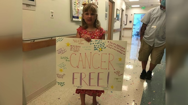 After five years, Lexi Rucker is officially cancer free.