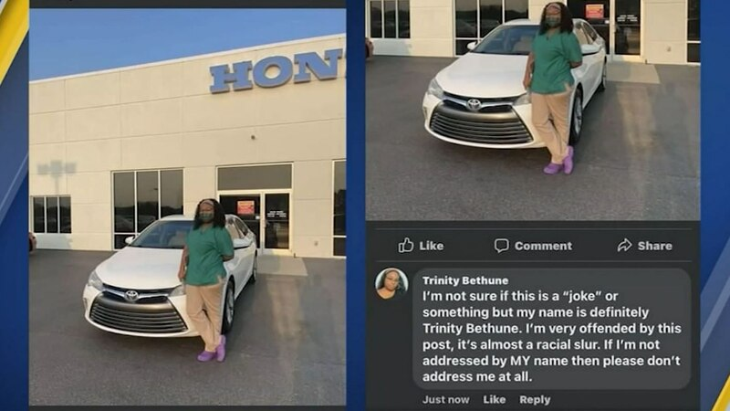 A North Carolina car dealership worker was fired for using the wrong name of a woman who bought...