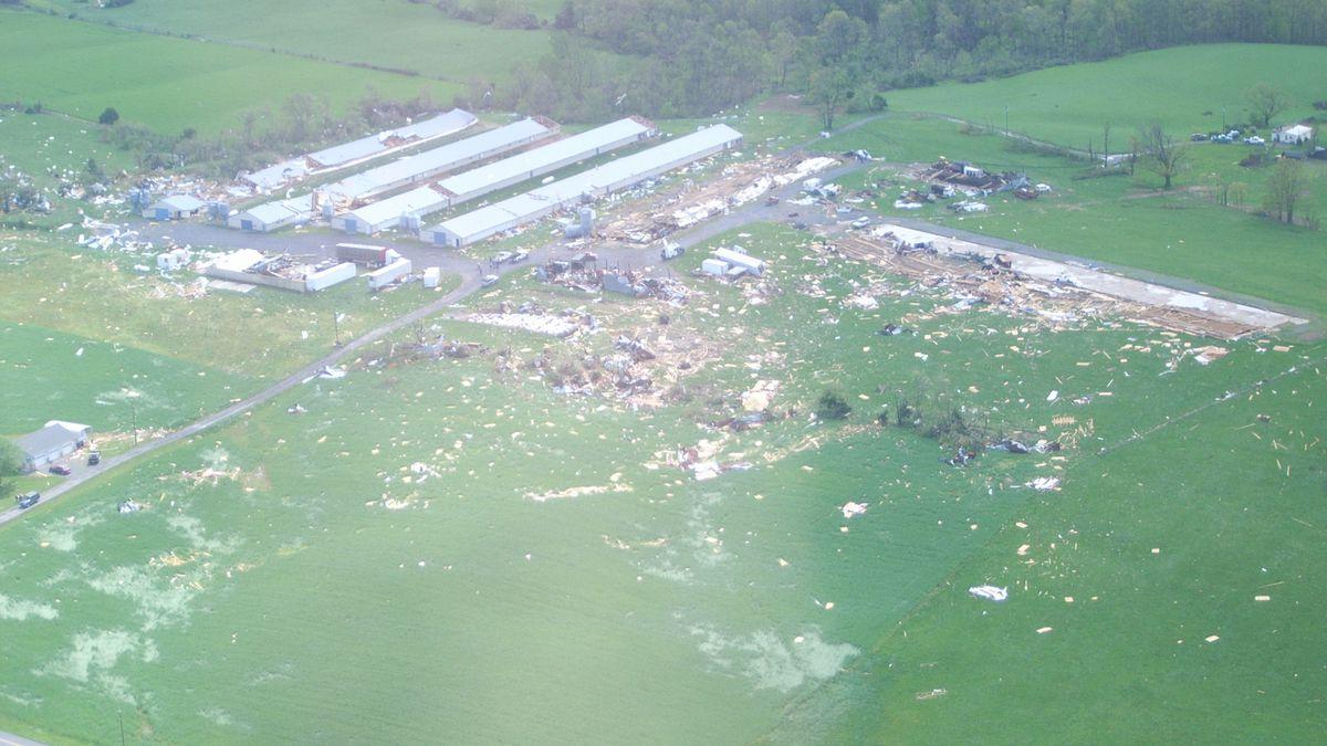 From the April 28 tornado - Shenandoah County