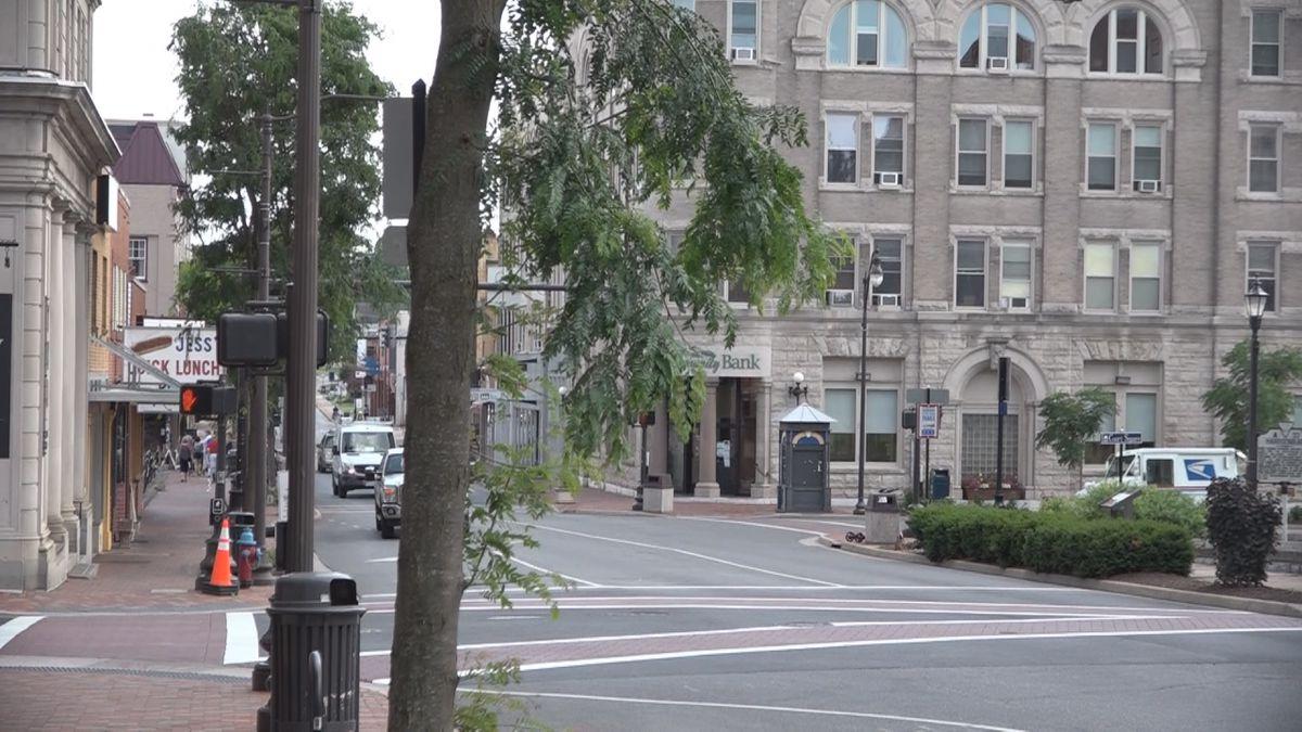 Street view of Downtown Harrisonburg