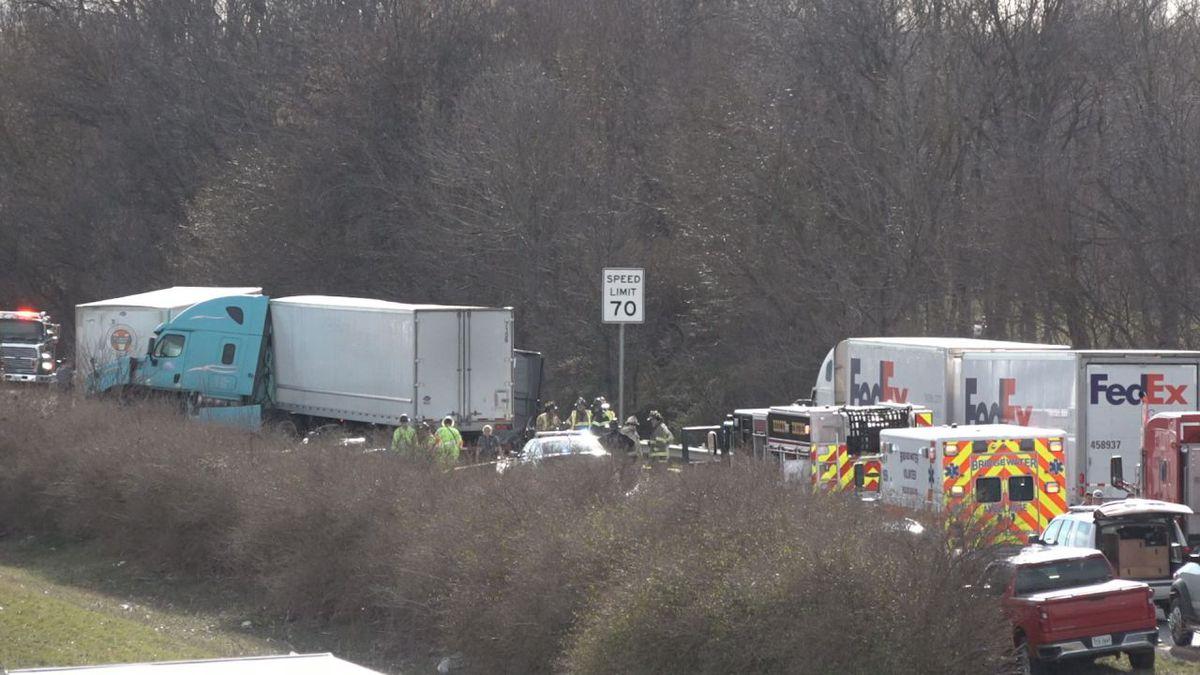 Photo taken of crash scene on Interstate 81 near MM 240 on Jan. 15