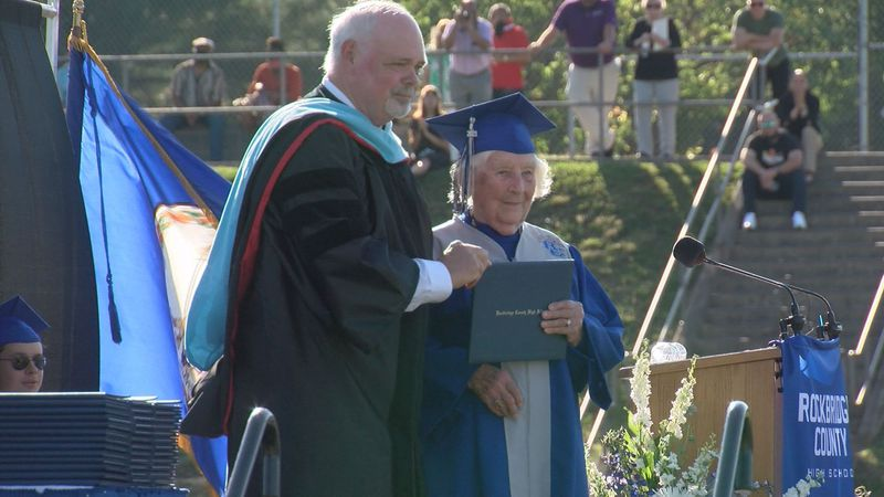 Ottie Marie Canady, 97, finally receives her high school diploma.