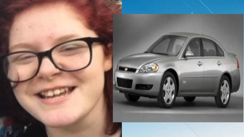 Photo of Lily Payne, missing from Richlands, and car similar to the one she may be traveling in.
