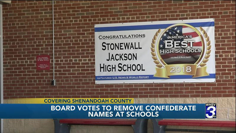 Shenandoah County School Board votes to remove Confederate leader names from school buildings
