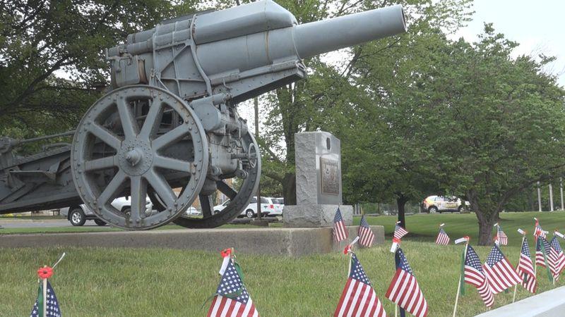 The Veterans memorial in Harrisonburg.
